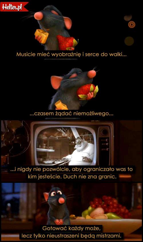Cytaty Filmowe z Filmu Ratatuj Disney HELTER