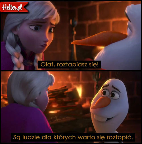 Cytaty Filmowe z Filmu Kraina Lodu - Frozen HELTER