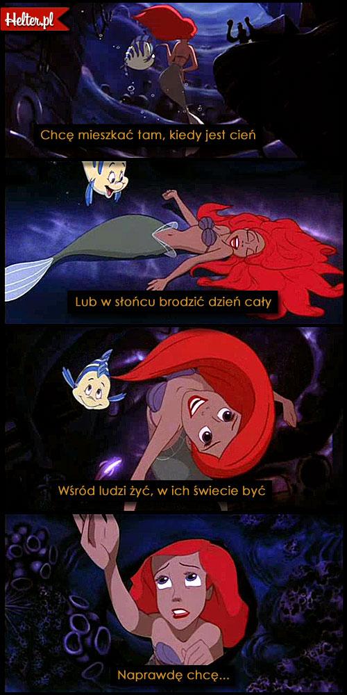 Cytaty Filmowe z Filmu Mała Syrenka Disney HELTER
