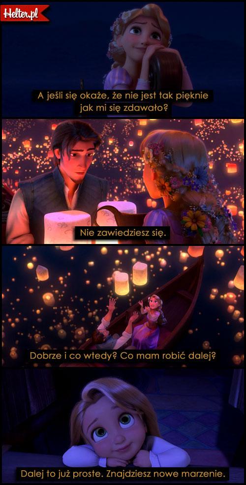 Cytaty Filmowe z Filmu Zaplątani Tangled Disney HELTER